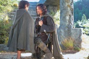Aragorn defers to Frodo