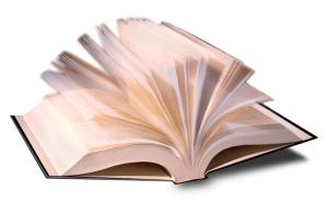Book, fanned open