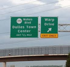 Warp Drive exit sign