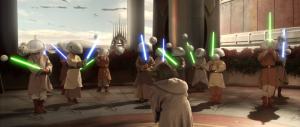 Jedi younglings at practice