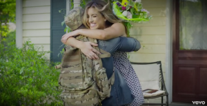 Never Enders, soldier embracing wife