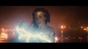 Wonder Woman holds lightning