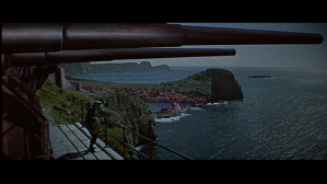 Guns of Navarone, cannon & seascape