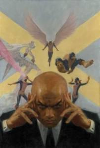 Professor Xavier using telepathy