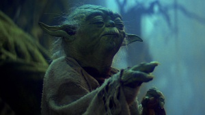 Yoda lifts the X-wing (Empire Strikes Back)