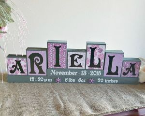 Ariella baby name decorative block