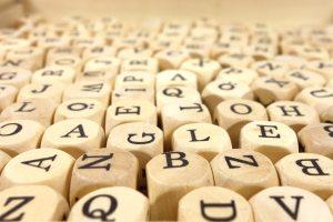 Random alphabet dice