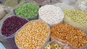 Bags of seed corn