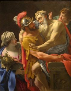 Aeneas and his father flee Troy (Vouet)