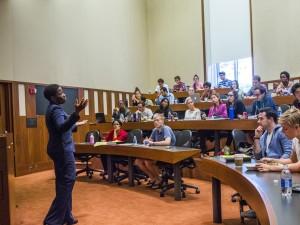 Harvard Law School classroom