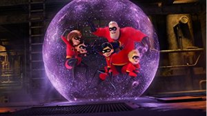Incredibles 2, family in force field