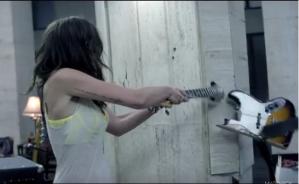 She's So Mean, girl smashes guitar