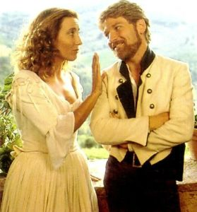 Beatrice and Benedick in Much Ado About Nothing (1993 movie)