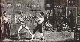 Gentleman Jackson's Boxing Salon, 1821 woodcut