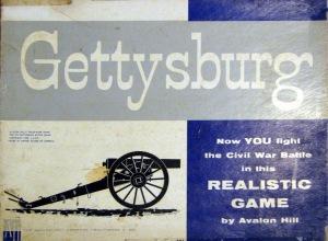 Gettysburg board game, box cover