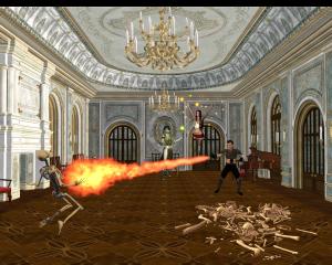 Wizard casting fireball