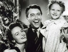 George Bailey, Mary, and Zuzu with tree, It's A Wonderful Life