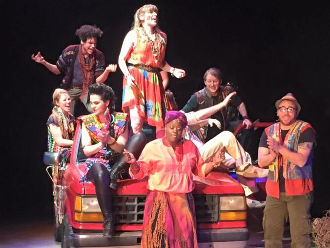 Godspell cast on stage