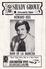 Man of La Mancha program (Shady Grove Music Fair, MD, 1970)