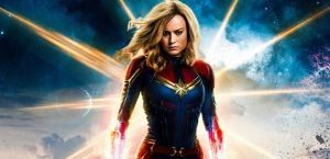 Captain Marvel, defiant with glow