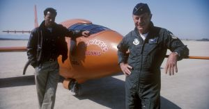 Sam Shepard with Chuck Yeager