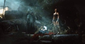 Batman and Wonder Woman mourn Superman