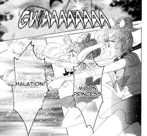 Sailor Moon manga attack scene