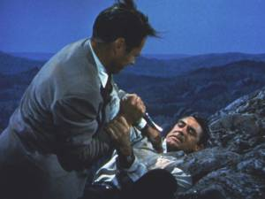 North by Northwest, Mt. Rushmore fight