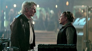 Han and Leia meet in The Force Awakens