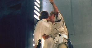 Luke & Leia kiss on Death Star