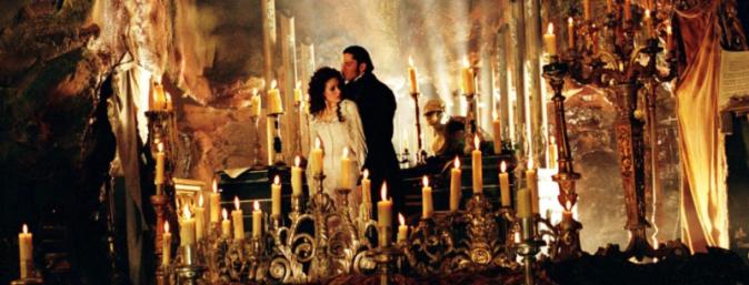 Phantom & Christine with many candles