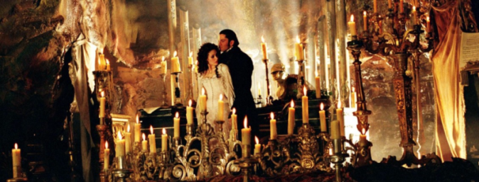 Phantom & Christine with many candles