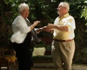 Couple dancing, from Dancing in the Minefields music video