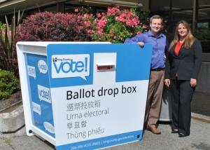 Drop box for ballots