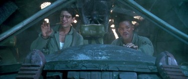 Will Smith and Jeff Goldblum deliver the virus in Independence Day (the movie)