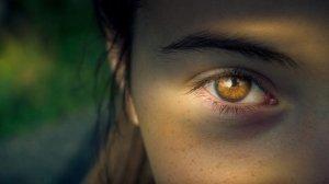 Image of eye, shadowed