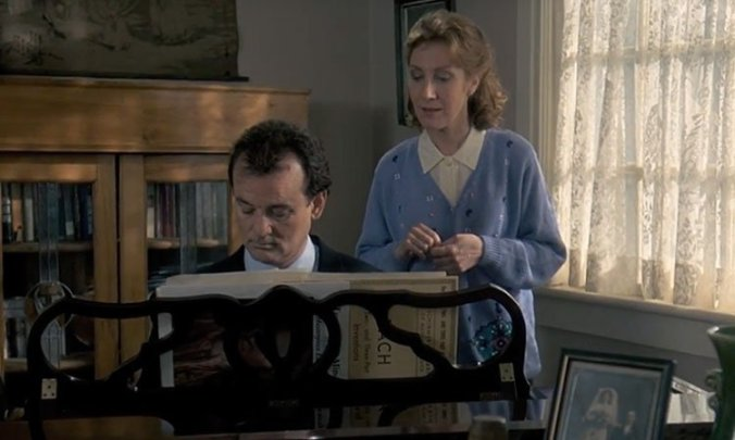 Phil and piano teacher in Groundhog Day