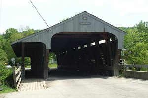 Great Eddy Covered Bridge in Waitsfield, VT