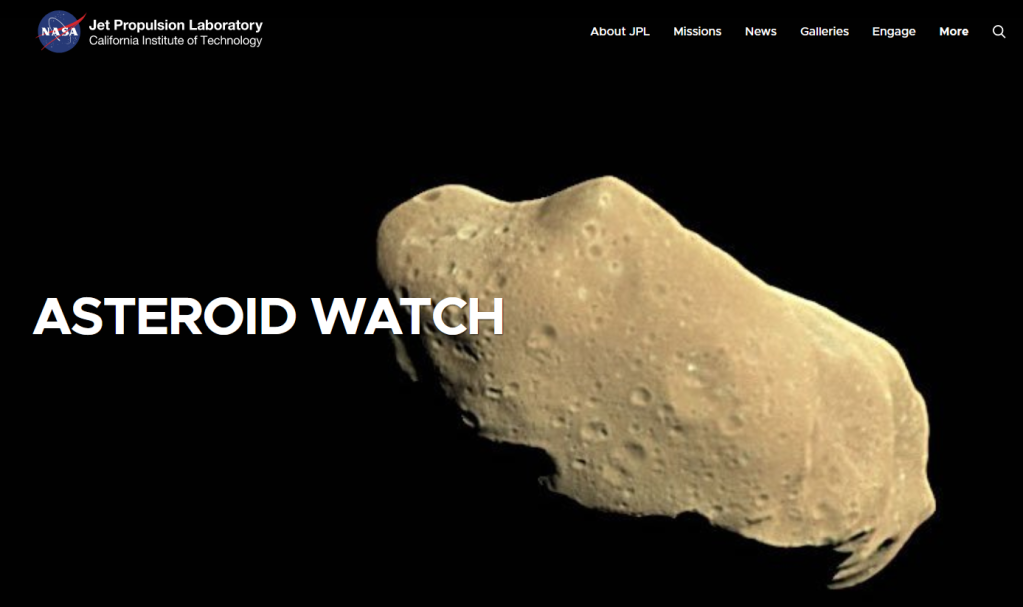 Logo from Web page of NASA's Asteroid Watch